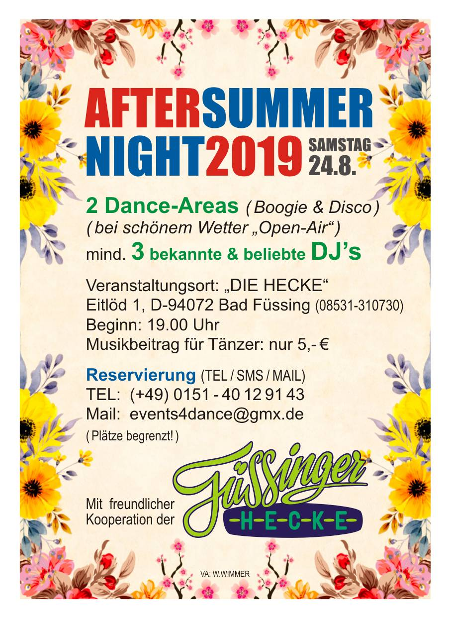 AFTER SUMMER NIGHT 2019 WE