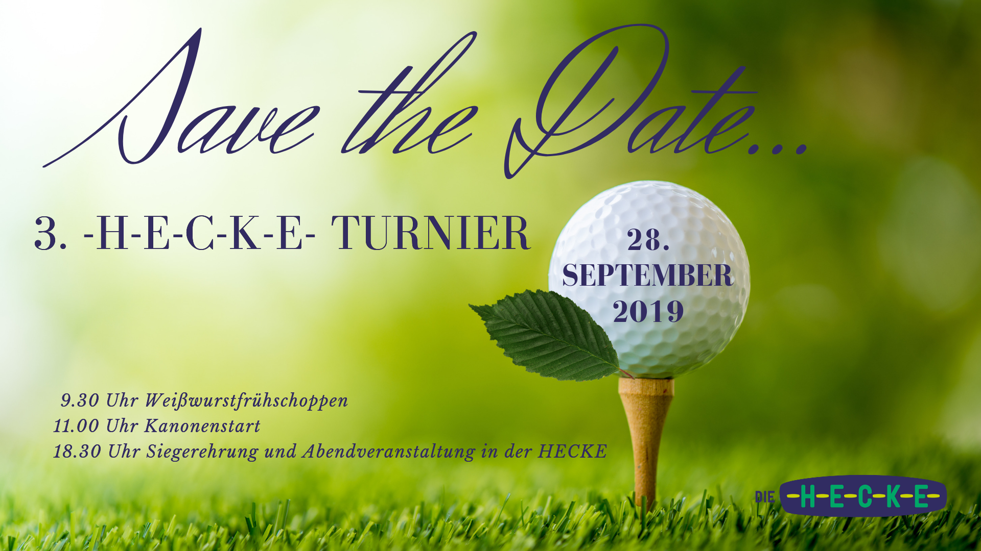 Save the Date 3. Golfturnier Sept. 2019